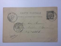 FRANCE - TUNISIA - 1888 Carte Postale Tabarka To Paris - Covers & Documents