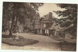 Carte Sépia  BLAINVILLE.CREVON  (S. Inf) .  Le  Cottage A Crevon - France