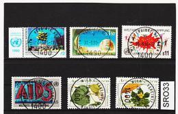 SRO33 VEREINTE NATIONEN UNO WIEN 1990 Michl 98/03 Used / Gestempelt - Wien - Internationales Zentrum