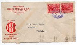 COSTA-RICA --1935--Lettre De SAN JOSE Pour LIMOGES (France)--timbres--cachets -personnalisée Ferreteria Miguel Macaya & - Costa Rica