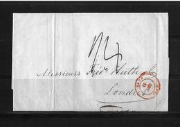 1848 Belgium → Ghent Entire Cover To Great Britain, Sent At Postage Due Manus 24 - 1830-1849 (Belgique Indépendante)