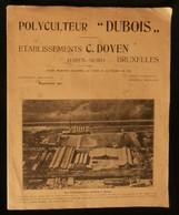 """( Agriculture  Tracteur ) POLYCULTEUR  """" DUBOIS """" Etablissements C. DOYEN Haren-Nord BRUXELLES 1920 - Agriculture"""