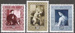 Liechtenstein 1952: Gemälde III (Savoldo Botticelli Del Sarto) Zu 250-252 Mi 306-308 Yv 268-270 ** MNH (Zu CHF 115.00) - Liechtenstein