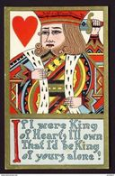 KING Of Hearts Playing Card Postcard - Cartes à Jouer