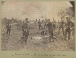 Champagnole . Tirs De Combat Au Pas De La Fosse . 2 Albumines 1889 . - War, Military