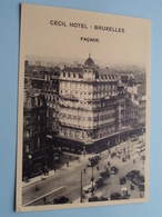Cécil Hotel ( Façade / CECIL ) Boulevard Botanique 12 / 13 BRUXELLES-NORD ( Thill ) Anno 19?? ( Voir Photo Svp ) ! - Cafés, Hôtels, Restaurants
