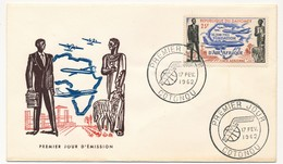 DAHOMEY => FDC - Fondation D'Air Afrique - 17 Fevrier 1962 - Bénin – Dahomey (1960-...)