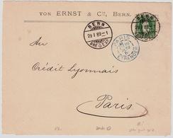 1889, 25 C. Weit Gezähnt, Idealer Stp., Vorderseite! , #a1422 - 1882-1906 Armarios, Helvetia De Pie & UPU