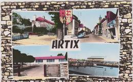Pyrénées  Atlantique :  ARTIX :  Vues  1961  Jardin , Groupe  Scolaire ... - Francia