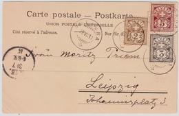 1898, 3 Farben! Graubünden - Stp. , #a1423 - 1882-1906 Armarios, Helvetia De Pie & UPU