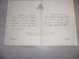Document ( 452 ) Faire - Part Huwelijk  De Waele / De Caluwé / Ruts -   Oostacker  Oostakker  Poppel  1930 - Mariage