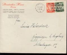 """N° 177/78 / L; """" HOTEL CARLTON """" (.) Flamme De Danzig / 29.4.31-> ..... Bij LUGSBURG- Superbe - Dantzig"""