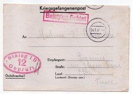 Allemagne-1940---Lettre Censurée Stalag I B-12--Lager-Bezeichnung Pour Lignieres (France)-Prisonnier De Guerre-- Cachets - Briefe U. Dokumente