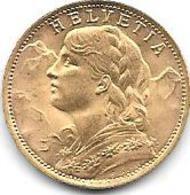 20 Frs OR 1935 SUISSE - Suisse