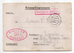 Allemagne-1940---Lettre Censurée Stalag I B-30--Lager-Bezeichnung Pour Lignieres (France)-Prisonnier De Guerre-- Cachets - Briefe U. Dokumente