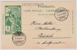 1900, L1 U. Rasierklingen - Stp. Auf UPU , #a1425 - 1882-1906 Armarios, Helvetia De Pie & UPU