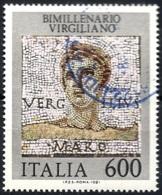 Italia, 1981 Virgilio, 600L  # Sassone 1575 - Michel 1775 - Scott 1491  USATO - 1981-90: Usados