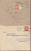 N° 177 + 179A  / 2 Lettres 2+  Flamme De Même Théme Mais Type Differents Soit Sc Du 8.8.32 Et Capt Du 27.4.37 -> Rul Et - Dantzig