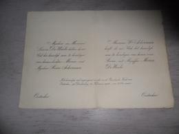 Document ( 456 ) Faire - Part Huwelijk De Waele / Ackerman - Oostacker  Oostakker  1924 - Mariage
