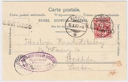 "1903, L1 "" St. GOTTHARD "" U. Hotel-Stp. , #a1426 - 1882-1906 Armarios, Helvetia De Pie & UPU"