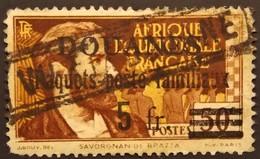 AEF - Taxe Surchargé DOUANES Paquets Poste Familiaux 5f - Y&T N° 1 Oblitéré - A.E.F. (1936-1958)