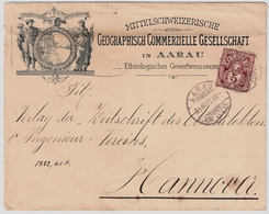 1892, Aarau, Vs. Große Abbildung!, #a1427 - 1882-1906 Armarios, Helvetia De Pie & UPU