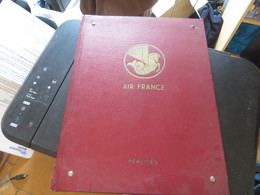 AIR FRANCE,surement Plaquette Publicitaires Mise à Disposition Dans Les Avions Pendant Les Voyage,voir Photos - Plaques Publicitaires