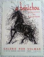 A. Bénichou Lithographie Originale Pour Exposition Galerie Volmar Faubourg St Honoré Affiche Originale Ancienne - Lithographies