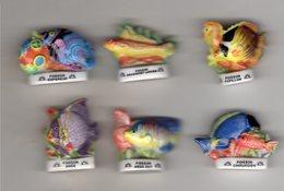 Série 6/18 Fèves POISSONS EXOTIQUES éditions ATLAS 2006 Avec Le Logo SOLEIL - Animals