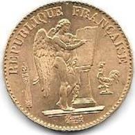 20 Frs OR FRANCE TYPE GENIE DEBOUT 1875 - Or