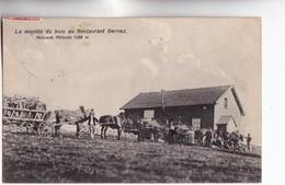 CPA - 88 - LA BRESSE - HOHNECK Alt 1366 M - RESTAURANT BERNEZ La Montée Du Bois Voy 1908 Timbre Allemand - Unclassified
