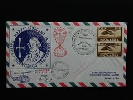 REPUBBLICA - Aerogramma Aviolanciato Onoranze Mazzei Con Annulli Retro + Spese Postali - 6. 1946-.. Repubblica