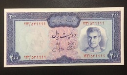 1971 IRAN 200 RIALS - SERIE: 549999 - ( P 93c ) - UNC - - Iran