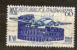 Italie Italia 1952 Yvertn° 635 (o) Oblitéré Cote 15 Euro Avion Vliegtuig Airplane Roma - 1946-60: Oblitérés