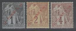 SAINT-PIERRE Et Miquelon:  N°31+32+33 * (surcharges Rouge)     - Cote 90€ - - St.Pierre & Miquelon