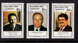 672546034 TURKISH CYPRUS 1988 POSTFRIS MINT NEVER HINGED POSTFRISCH EINWANDFREI SCOTT 227 229 TURKISH PRIME MINISTERS - Chypre (Turquie)