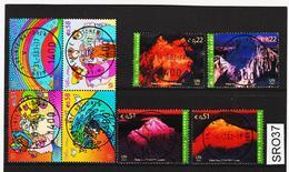 SRO37 VEREINTE NATIONEN UNO WIEN 2002 Michl 363/70 Used / Gestempelt - Wien - Internationales Zentrum