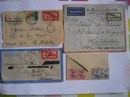 INDOCHINE - 3 Enveloppes Et Un Devant  Période Années 30 - Indocina (1889-1945)