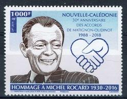 New Caledonia, Michel Rocard, French Politician, Matignon Agreements, 2018, MNH VF - Unused Stamps