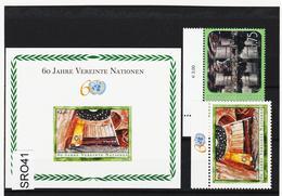 SRO41 VEREINTE NATIONEN UNO WIEN 2005 Michl 432+434+ BLOCK 19 ** Postfrisch - Wien - Internationales Zentrum