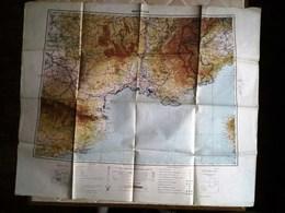 WW2 - Carte Type Aviation - MARSEILLE - Service Géographique De L'Armée 1938/1940 [ O ]_M288 - Aviation