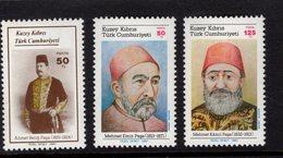 672557257 TURKISH CYPRUS 1987 POSTFRIS MINT NEVER HINGED POSTFRISCH EINWANDFREI SCOTT 213 214 215 FAMOUS MEN - Chypre (Turquie)