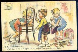 Cpa  Illustratreur  Germaine Bouret ---  MD Paris -- Dites Patronne Avec Ce Crayon Queues Aux Zéro  GX27 - Bouret, Germaine