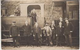Vieille Locomotive - Animé - Carte-photo - Trains