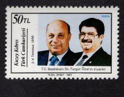 672558319 TURKISH CYPRUS 1987 POSTFRIS MINT NEVER HINGED POSTFRISCH EINWANDFREI SCOTT 216 - Chypre (Turquie)
