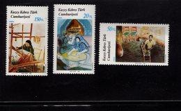 672561844 TURKISH CYPRUS 1988 POSTFRIS MINT NEVER HINGED POSTFRISCH EINWANDFREI SCOTT 219 220 221 PAINTINGS WORKING PEOP - Chypre (Turquie)