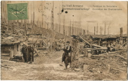 68 Vieil Armand, Arrivée Du Funiculaire, Hartmannswelerkopf, CPA état Superbe. - Guerre 1914-18