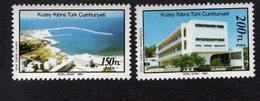 672565735 TURKISH CYPRUS 1988 POSTFRIS MINT NEVER HINGED POSTFRISCH EINWANDFREI SCOTT 217 218 LANDSCAPES - Chypre (Turquie)