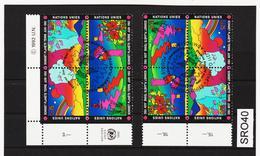 SRO40 VEREINTE NATIONEN UNO GENF 1992 Michl 215/18 STEMPEL - IRRTUM - Genf - Büro Der Vereinten Nationen