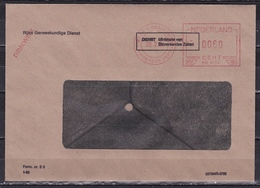 Meterstamp Roodfrankering 's-Gravenhage 1984 Op Drukwerk Vensterenvelop Rijks Geneeskundige Dienst - Marcofilie - EMA (Print Machine)